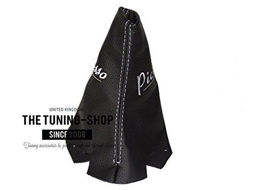 15/Schaltsack schwarz Italienisches Leder Double wei/ß Picasso Logo Stickerei The Tuning-Shop Ltd F/ür Citroen C3/Picasso 5/Speed 2009