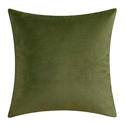 Artcest Decorative Solid Throw Pillow Case Comfortable Velvet Cushion Cover for Sofa Couch and Bed, 24