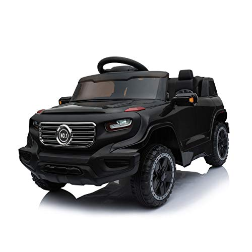 JAXPETY 6V Kids Ride On Car Truck w/ Parent Control 3 Speeds LED Headlights MP3 Player Horn (Black) (Best Cars For Parents)