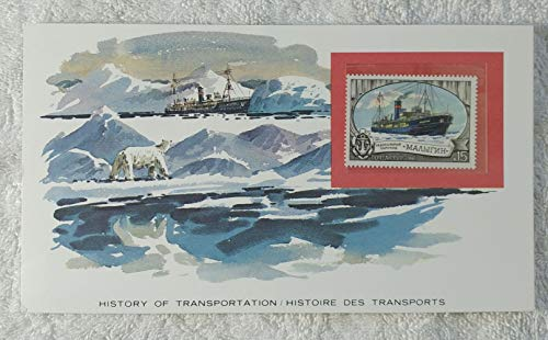 The Icebreaker - Postage Stamp (Soviet Union/USSR, 1981) & Art Panel - The History of Transportation - Franklin Mint (Limited Edition, 1986) - Ship, Boat