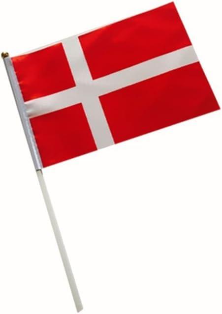 Liaoyuan Bandera de Dinamarca mano Bandera mano Dinamarca 150 x 90 cm, Handflagge: Amazon.es: Jardín