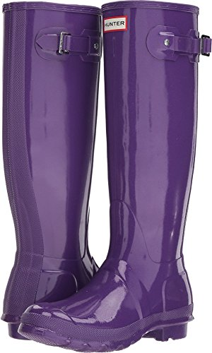 Hunter Womens Original Starcloud Tall Rain Boots Acid Purple
