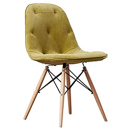 Deal Dhamaal Dining Chair/Side Chair for Living Room/Side Chair for Home/Living Room Chair with Cushion (Green)