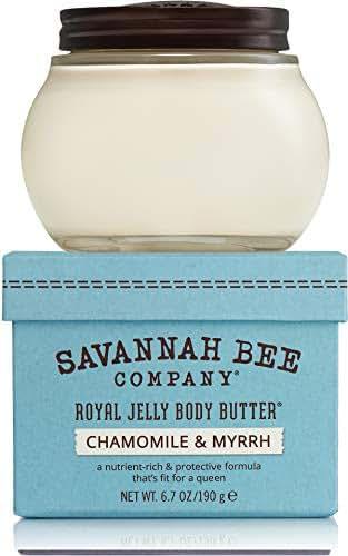 Royal Jelly Body Butter CHAMOMILE & MYRRH for Sensitive Skin by Savannah Bee Company - 6.7 Ounce