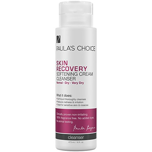Paula's Choice SKIN RECOVERY Cream Cleanser, 16 Ounce Bottle for Extra Sensitive, Redness and Rosacea Prone Skin, Normal to Very Dry Facial Skin Cleanser 16 Ounce Bottle