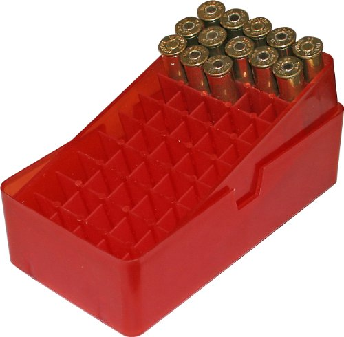 MTM 50 Round Slip-Top Handgun Ammo Box 44/45 Cal (Clear Red)