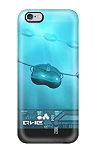 Hot Selling Snap-on Rotate Me Blue Black Capsules Hard Cover Case/ Perfect Protective Case For Iphone 6 Plus