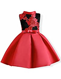 Oukaiyi Baby Girl Dress Party Wedding Flower Dresses Sleeve Gowns