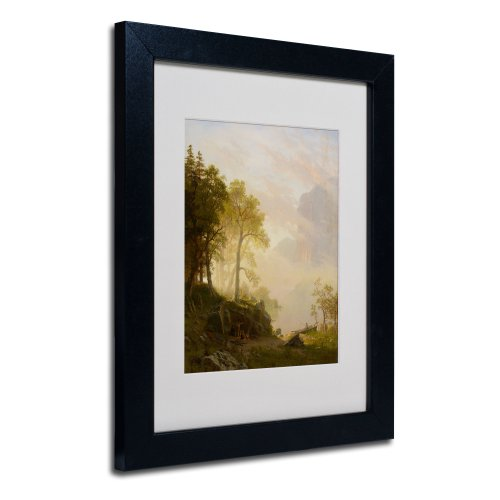 Bierstadt Canvas Frame - The Merced River Canvas Wall Art by Albert Bierstadt with Black Frame, 11 by 14-Inch