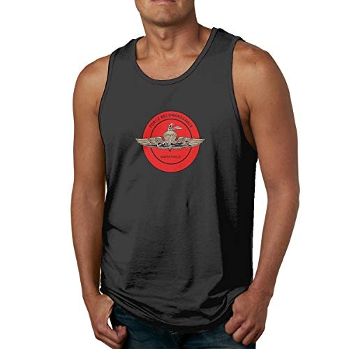 United States Marine Corps Force Reconnaissance Men Tank Top Vest Sleeveless Tshirt Black
