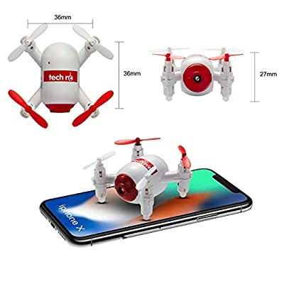 Tech rc TR006 RC Mini Drone Nano Copters with HD Camera WiFi FPV Live Video Quadcopter One Key Landing/ Take-Off Headless Mode 2.4GHz 6 Axis Gyro Helicopter: Toys & Games