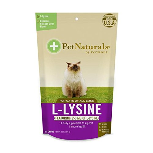 Pet Naturals of Vermont L-Lysine Fun-Shaped Chews for Cats