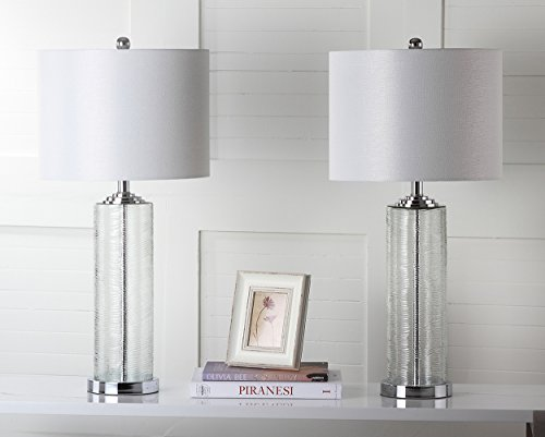 Safavieh Lighting Collection Grant Clear 29-inch Table Lamp (Set of (Clear Contemporary Desk)