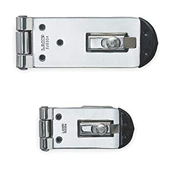 Fixed Staple Hasp, 304 Stainless Steel, Polished, 2-1/64 in, by Azaleahome
