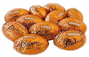 Chocolate Footballs Candy Made In The USA Bulk Candy Chocolate (1 Pound)