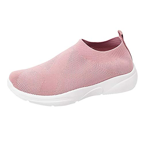OrchidAmor Leisure Women's Big Girls Outdoor Mesh Sports Shoes Runing Breathable Shoes Sneakers 2019 Summer Pink