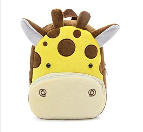 Cute Toddler Backpack Toddler Bag Plush Animal Cartoon Mini Travel Bag for Baby Girl Boy 1-6 Years (Giraffe) -
