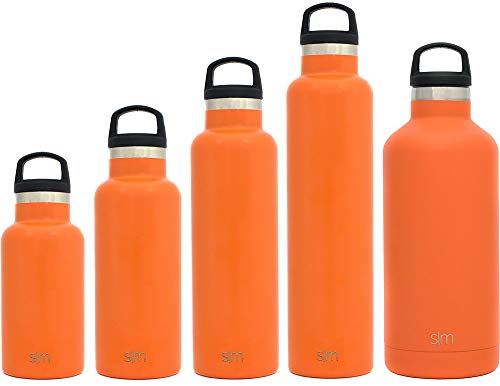 Simple Modern 32oz Ascent Water Bottle - Stainless Steel Hydro Swell Flask w/Handle Lid - Metal Double Wall Vacuum Insulated Orange Reusable Tumbler Aluminum 1 Liter Cold Leak Proof - Autumn -  ASC-32-AO