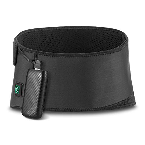 st Pad, Electronic Cordless Heated Back Support Belt Fast Heating Technology with Cold Therapy, 3 Heating Settings Pain Relief for Cramps Abdominal Arthritic ()