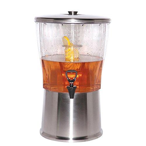 Service Ideas CBDRT5SS Beverage Dispenser, BPA Free, Stainless Steel, Round, 5 gal by Service Ideas
