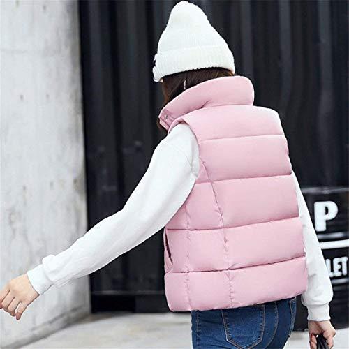 Rosa Outerwear Con Acolchado High Cremallera Cómodo Pluma Collar Chaleco Invierno Mangas Colmar Ligeramente Camisolas Elegantes Fashion Sin Hipster Casual Chaqueta Casuales Mujer Otoño Mujeres RHwv1Hqpg