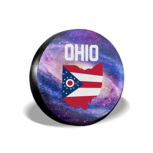 (Ohio State Flag Cars Spare Tire Cover Cutomobile Tire Cover Tyre Size 14