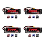 Venom 7.2V 3000mAh 6-Cell NiMH Battery with Universal Plug (EC3/Deans/Traxxas/Tamiya) x4 Packs