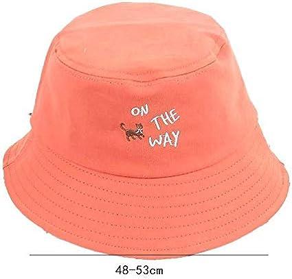 Westeng Chapeau Bob Toile de Coton Chapeau Plat Lettre Chapeau de Soleil Double Face Pliable Anti-UV Protection /Ét/é pour Femmes 48-53cm,Orangege
