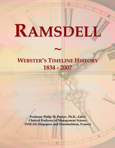 Ramsdell Line (Ramsdell: Webster's Timeline History, 1834 - 2007)