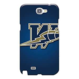 Shock-Absorbing Hard Phone Covers For Samsung Galaxy Note 2 With Unique Design Nice Winnipeg Blue Bombers Skin MarieFrancePitre