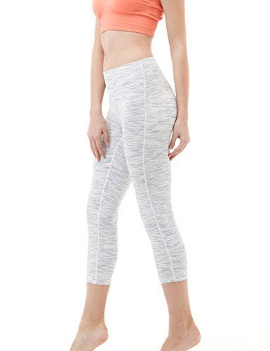 TM-FYC32-RDW/_Large Tesla Yoga Pants High-Waist Tummy Control w Hidden Pocket