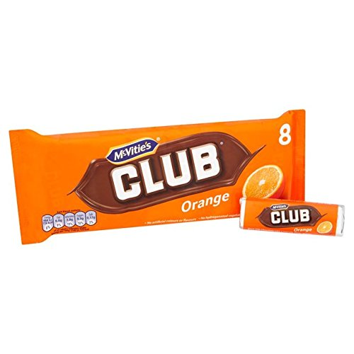 McVities Club Orange 8 Chocolate - Pack of