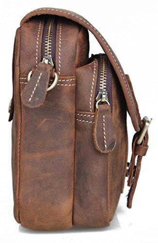 Zenness Nizza Reise Kleine Handtasche Hüfttasche Gürteltasche Leder
