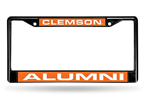 (Rico Industries NCAA Clemson Tigers Alumni Laser Cut Inlaid Standard Chrome License Plate Frame)