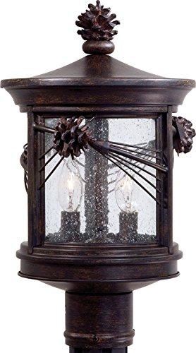 Minka Lavery Outdoor Post Lights 9156-357, Abbey Lane Exterior Lighting Fixture, 180 Watts, Iron