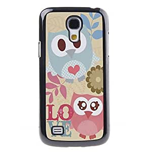 FJM Owls' Love Decal Pattern Mirror Smooth Back Hard Case for Samsung Galaxy S4 Mini I9190