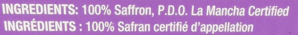 Kirkland Signature La Mancha Spanish Saffron 1 Gram (.035 Oz) - Retail Packaging