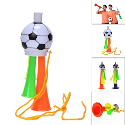 Dreamyth Game Cheer Football Horn Hooter Trumpet Instruments Music Toys For World Cup Gift (Mix color, S) ()
