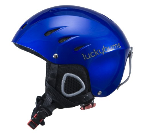 Lucky Bums Snow Sport Helmet with Fleece Liner, Blue, Small (Youth Skis)