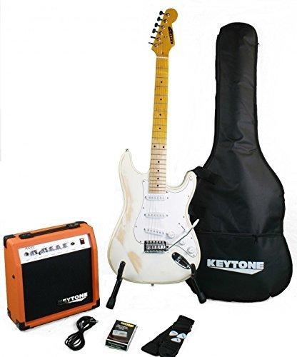KEYTONE de St Style Guitarra eléctrica Set Vintage con amplificador & accesorio
