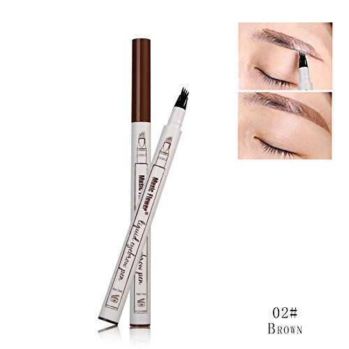 Liquid Tattoo Eyebrow Pen With Four Tips Brow Pen, Long-lasting Waterproof Brow Gel for Eyes ()