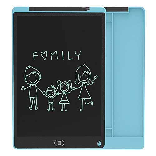 ZenHome LCD Writing Tablet, 12 Inch Electronic Writing and Drawing Board, Erasable Reusable Doodle Pad Tablet for Kids and Adults at Home, School, Office (Blue)