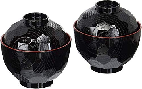 JapanBargain Brand Set of 2 Japanese Rice Bowls with Lid