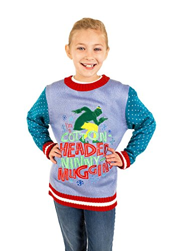 Children's Elf the Movie Cotton Headed Ninny Muggins Sweater (Blue) - Holiday Sweater (2T)