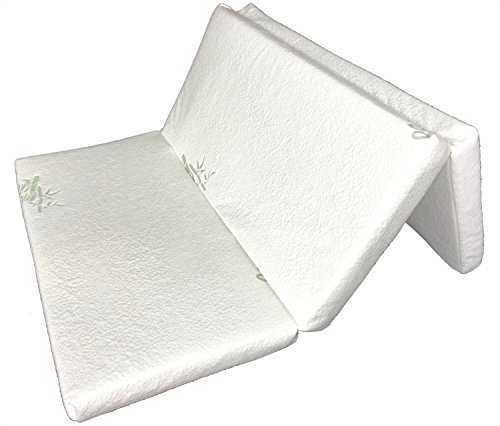 "Folding Pack-n-Play Mattress by Sproutwise Kids - Latex Core (25"" Width) - Soft Organic Cotton Cover"