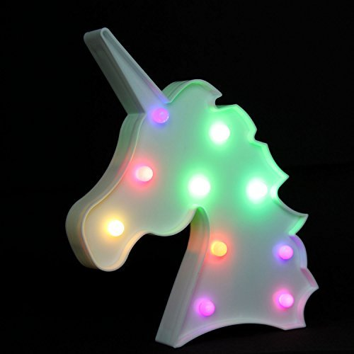 Large Product Image of OYE HOYE Unicorn LED Lights Night Light Night Lamp Marquee Signs Table Lamp Multi Color Change for Wall Decoration Bedroom Kids Living Room Kids Gift Battery Operated