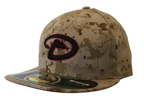 Arizona Diamondbacks New Era On Field 59Fifty Desert Camo Hat Cap (7 5 8) 95ae4a0ba30