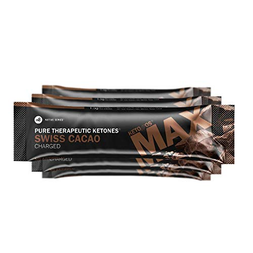KETO OS MAX Swiss Cacao CHARGED, BHB Salts Ketogenic Supplement – Beta Hydroxybutyrates Exogenous Ketones for Fat Loss, Workout Energy Boost and Weight Management through Fast Ketosis, 7 Sachets