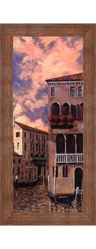 Venice Sunset I by D。J Smith – 8 x 20インチ – アートプリントポスター LE_455621-F10570-8x20 B01NCZRZU9 Rustic Brown Frame