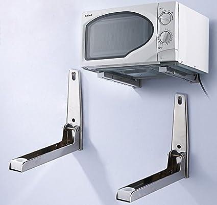 Nuevo plegable 304 Acero inoxidable elástico soporte de estante rack para horno de microondas soporte de